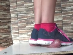Hard stomp - cock ball torture- cbtrample - cock crush with sneakers