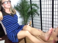 These sluts love feet and they prove it!