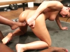 Gym Lesbian Ariel X and Ana Foxxx[footworship] FULL SCENE