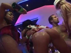 Incredible pornstars Sharka Blue, Carla Cox and Billy Raise in amazing big tits, group sex porn scene
