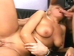 Gabor And Victor Goes Deep In Karina Tight Pussy