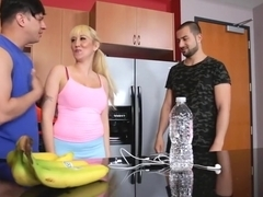 Exotic pornstar Alana Evans in best milf, threesome sex video