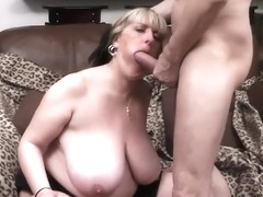 Submissive Red Head Sex slave tied to chiar and gets teased by MaleDom