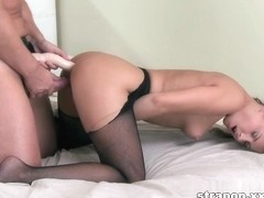 Double penetration action using sex toys