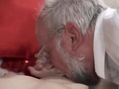 Teenager jizzed by gramps