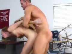 Cute redhead student satisfying her teacher