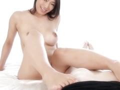 japanese girl nice footjob