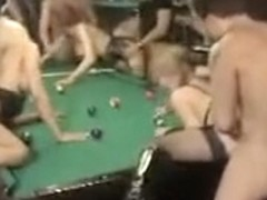 French Orgy In A Pool Hall