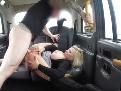 Michelle Thorne & Peter Oh Tool in Milf Fucked Through Ripped Tights - FakeTaxi