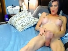 Amazing Homemade Shemale record with Mature, Solo scenes