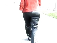 satin pants black