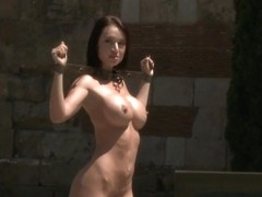 Penthouse Pet Franceska Jaimes is Publicly Caned and Fucked