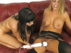 Alana Cruise  Britney Amber in Stroke It To Us - WildOnCam