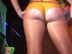 Very Hot College Girls Competing for Cash in Wild Wet Tshirt Contest - SouthBeachCoeds