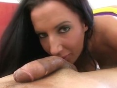 Cute brunette Richelle Ryan in handjob porn video