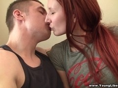 Pierced redhead loves to fuck