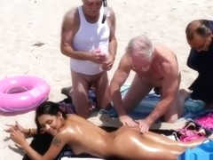 Hot old mature women Staycation with a Latin Hottie