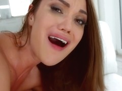 Alyssa Reece cant wait to get cum in mouth after having wild sex with two guys