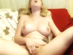 British tattooed pale angel with f cup tits