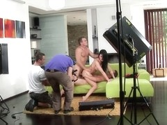Aletta Ocean working out & getting ready for porn ... Threesome BBC
