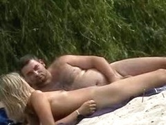 A new experience of the bold couple on the nude beach
