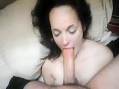 Pale Beauty with a Stunning BJ + Deepthroat