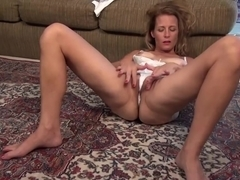 Mature blonde woman likes orgasms more than anything else, so that is why she is often masturbating