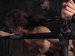 Threeway Fucked Sub Gaggs On Maledom Cock