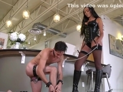 Bethany Benz makes Slave grovel at her boots