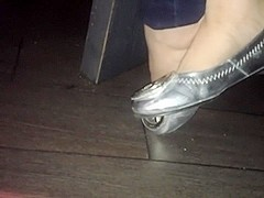 A mexican friends in silver ballerinas