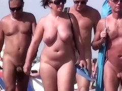 Sluts on a beach in my amateur voyeur porn clip