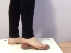 under the feet of two girls - CBT trample