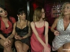 Jessica Fox and TS Foxxy Double Team MILF sensation Simone Sonay