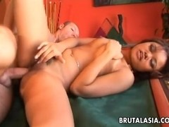 Asian bondage babe Annie Cruz fucked in all holes