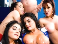 Kat Lee & Kaia Kane & Kit Lee & Tanya Cox in A Very British Group Sex Experience With Four Hot Slu.