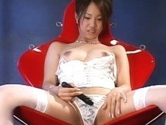 Fabulous Japanese model Ayumi Kirishima in Exotic Stockings/Pansuto, Masturbation/Onanii JAV movie