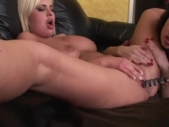 Fabulous pornstars Mina Meow and Andi Anderson in hottest blowjob, big ass adult movie