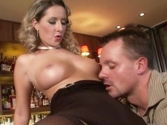 Seductive milf, Daria Glower had casual sex with a handsome stranger, in a local bar