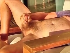 German daddy wanking at beach house