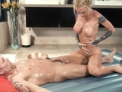 Busty Tattooed Masseuse Sarah Jessie Fucked By Client