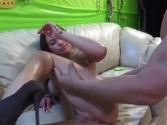 Hottest pornstar Alicia Angel in best facial, small tits adult clip