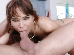 Stepson Logan covered stepmom Syrens face with his hot jizz