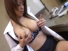 Chinatsu Nakano Asian office girl has kinky office sex