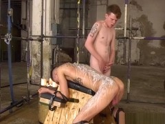 British slave Max London endures wax torment and raw fucking