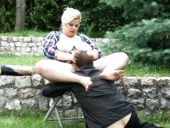 Rebecca & Kamo Chlap in Bbw Abuses A Face - KINK