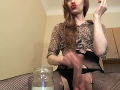 Fabulous Amateur Shemale video with Solo, Stockings scenes