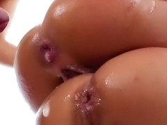 Adriana Chechik Sloppy 3 Way Anal Enema