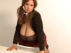 4BB! S3CCR4 High School Girl with Giant Tits Fantasy