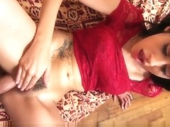 Angel Del Rey gets her pussy fingered fucked and stuffed
