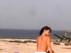 Naked Beach - Legal Age Teenager snatch with CIM Facial - self filmed